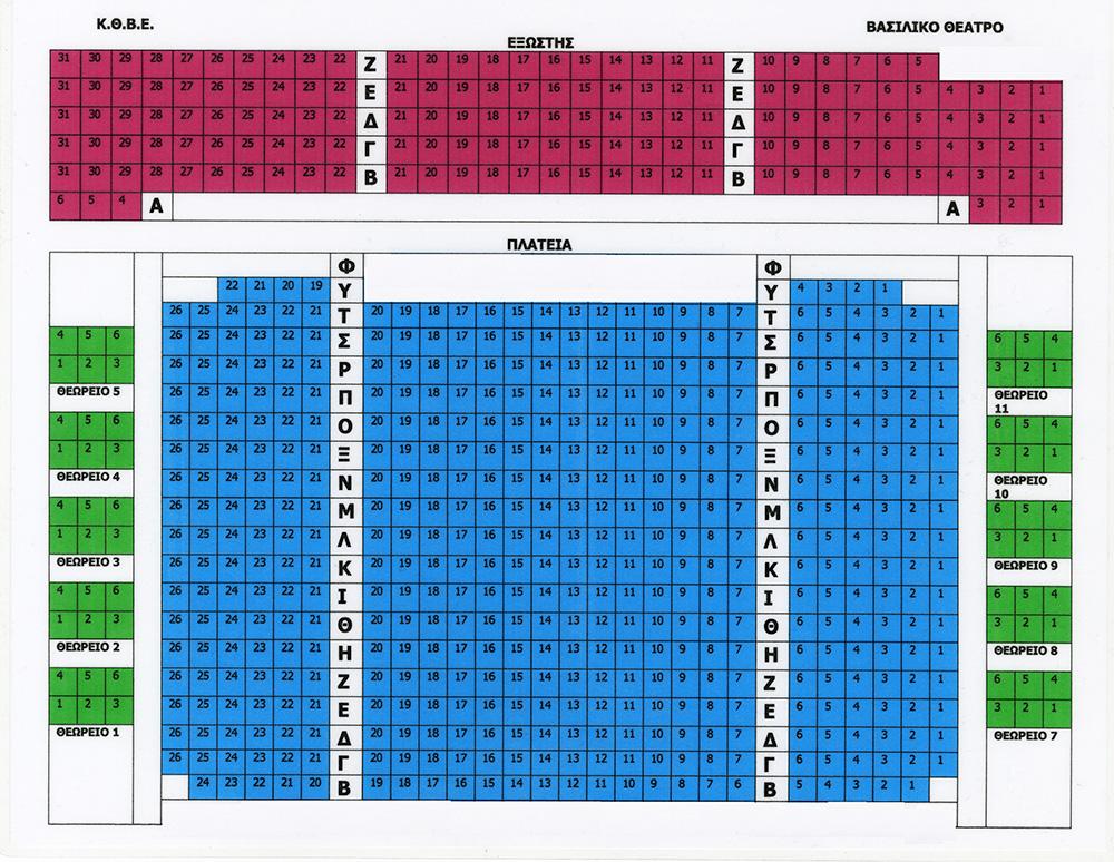 c998ec86040 Κρατικό Θέατρο Βορείου Ελλάδος - Κάτοψη Βασιλικού Θεάτρου